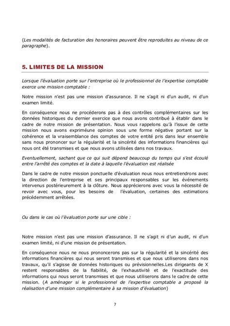 Résiliation Lettre De Mission Comptable Lettre De Mission De L Expert Comptable