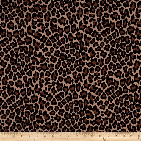 leopard fabric leopard jersey knit brown discount designer fabric