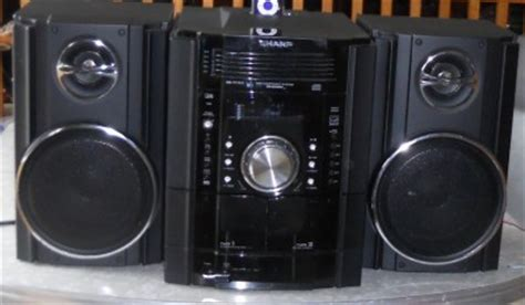 sharp 250w 5 disc cd ipod compact shelf stereo 2 way