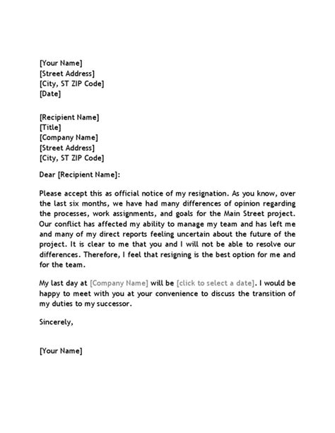 resignation letter format resignation letter to appropriate attitude respectfully