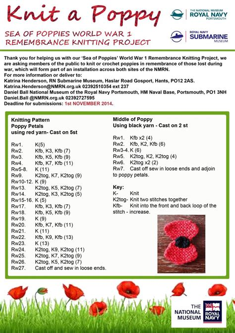 poppy knitting pattern free a sea of poppies community project national museum of