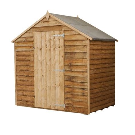 4x6 Wood Shed Buy Mercia 4x6 Rustic Shed From Our Wooden Sheds Range Tesco