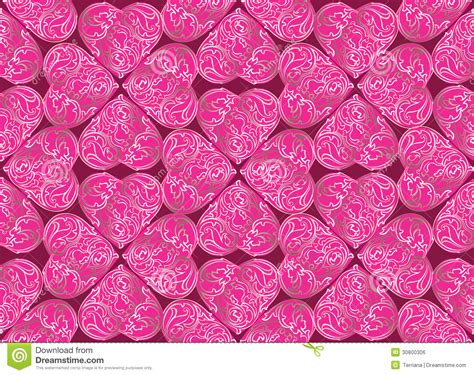 love heart pattern love heart ornamental seamless pattern royalty free stock