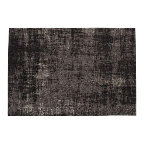 tappeto nero tappeto nero in cotone 140 x 200 cm feel maisons du monde