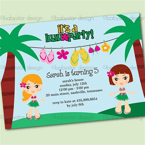Luau Invitation Templates Luau Invitations Templates Free