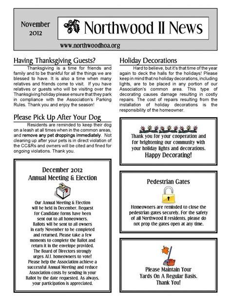 Community Newsletter Template
