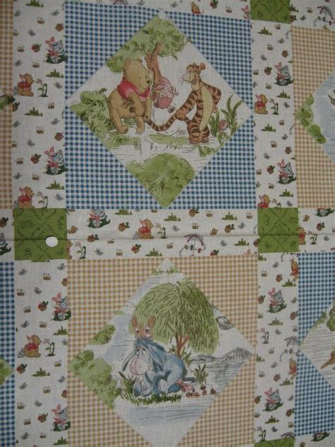 winnie the pooh tigger piglet eeyore windy day crib quilt fabric panel to sew