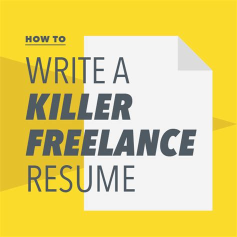 quot how to write a killer freelance resume quot by lindsay