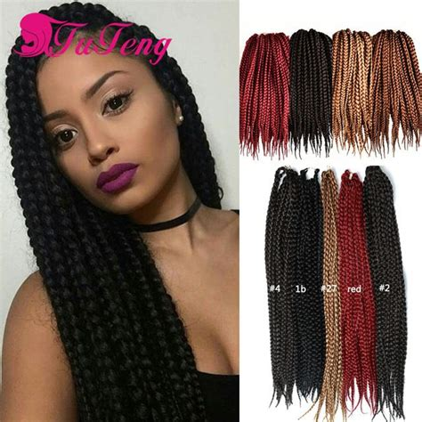how to wear extension for bobcut box braid style 18 inch 6 packs black color synthetic hair