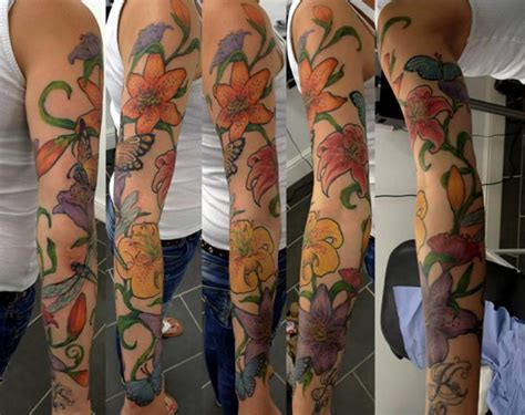 tattoo renaissance arm flower by renaissance