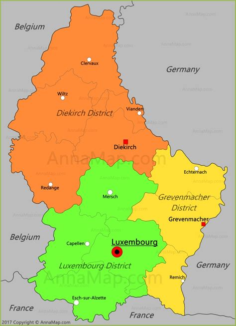 where is luxembourg on the map luxembourg map map of luxembourg annamap