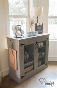 Coffee Bar Cabinet Diy Farmhouse Coffee Cabinet Shanty 2 Chic