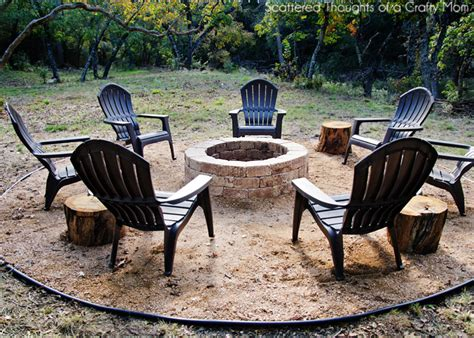 how to build a firepit for your outdoor space scattered