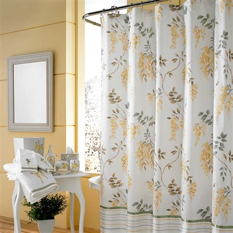 Modern Shower Curtains Curtains Modern Yellow And Grey Shower Curtains Kohls For Regarding Yellow Curtain For