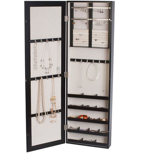 wall mounted jewelry armoire java in jewelry boxes and