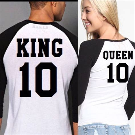 Is King Tshirt couples t shirts set quot king quot set of 2 t shirts