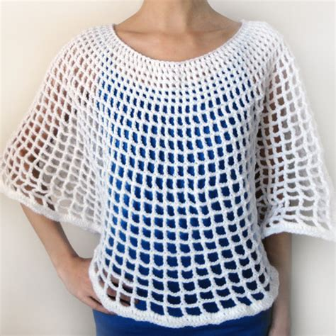 free crochet patterns for mesh tops squareone for circular mesh poncho pdf crochet pattern by