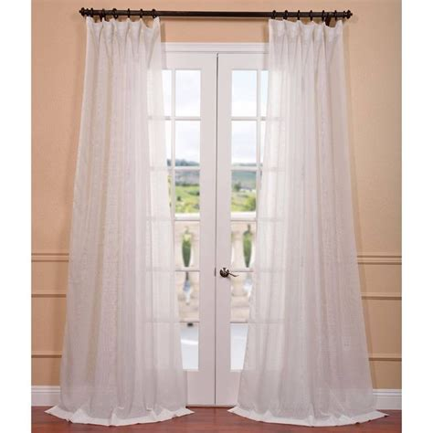 layered curtains signature off white double layer sheer curtain panel