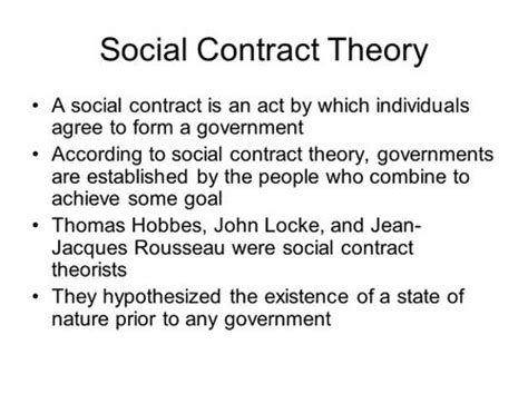 The Social Contract social contract theory thoughts and philosophy
