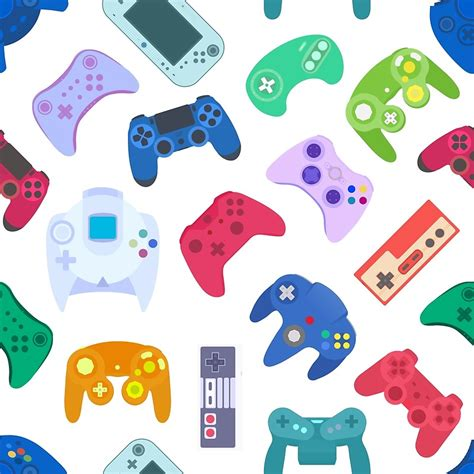 Custom Duvet Quot Game Controller Background Gadgets Seamless Pattern
