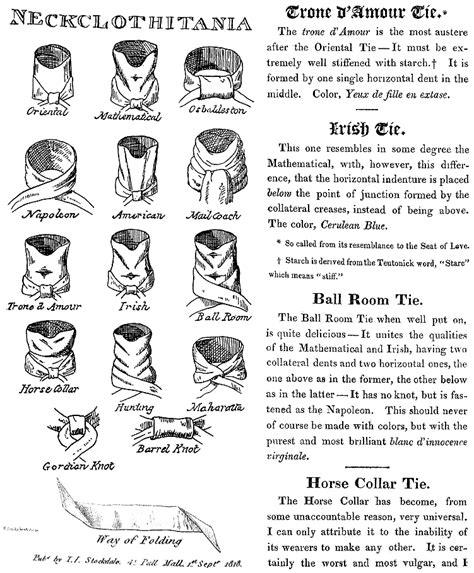 the regency gentleman neckwear jane austen s world neckclothitania 1818 gif