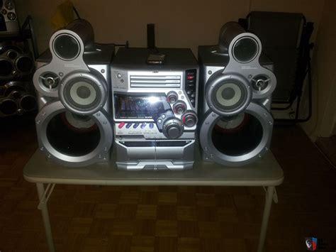 jvc bookshelf component stereo with giga sub