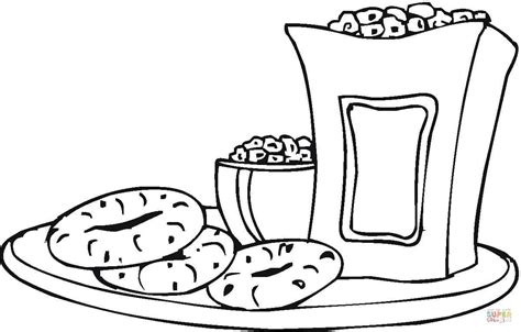 snacks coloring pages getcoloringpages com