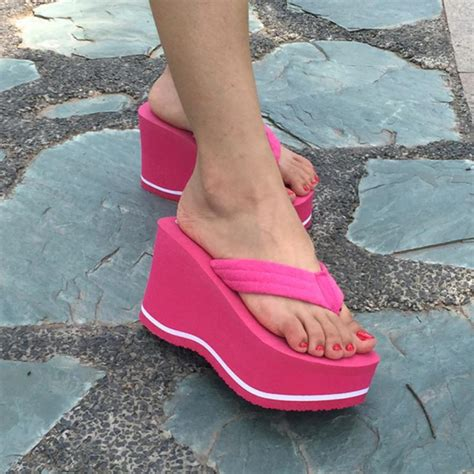 wearing slippers 2017 platform flip flops casual