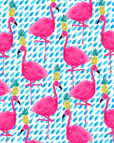 flamingo wallpaper pattern party flamingos pinteres