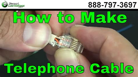 Kabel Telepon Rj11 1 8m White how to make a telephone cable usoc rj11 rj45