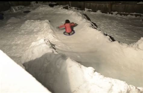 Backyard Luge by Family Builds Awesome Luge Course In Backyard Aol News