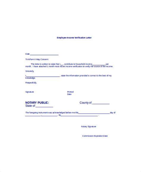 income verification letter income verification income verification