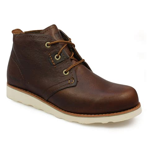 caterpillar milton briar brown leather boots