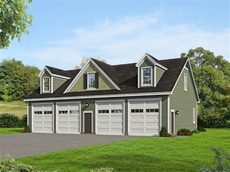 4 Car Garage Plans by Tandem Garage Plans Tandem Garage Plan With Loft 062g