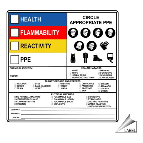printable hazard label hazardous material hazmat sds msds and right to know