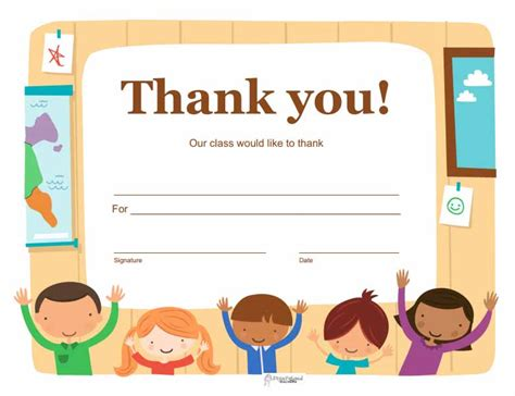 thank you certificates templates thank you certificates squarehead teachers