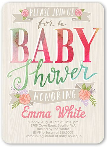 Shutterfly Baby Shower Invites by When To Send Baby Shower Invitations Shutterfly