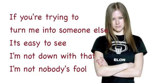 avril lavigne nobody s fool lyrics
