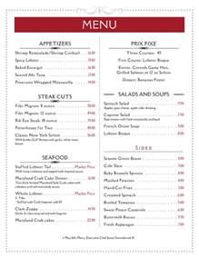 template of menu menu exle