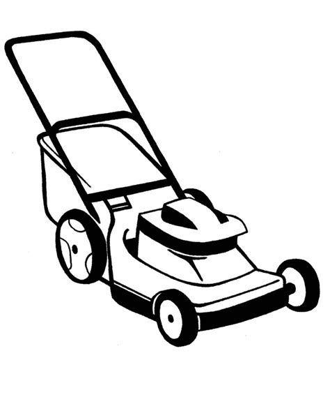 Lawn Mowing Black And White Mower Clipart Kiaavto sketch template
