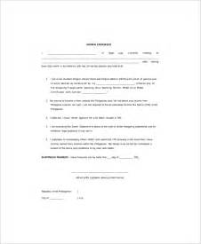sworn statement template sle sworn statement 9 documents in word pdf