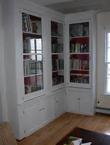 built in corner bookcase furniture l shaped white stained mahogany wood