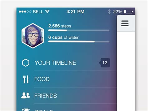 pure layout side menu side menu and status bar in ios7 bar mobile ui and ui