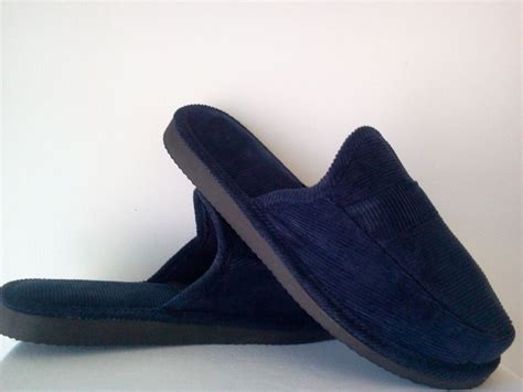 House Slippers Navy Navy Blue Corduroy House Shoes Open Back Slippers New Size
