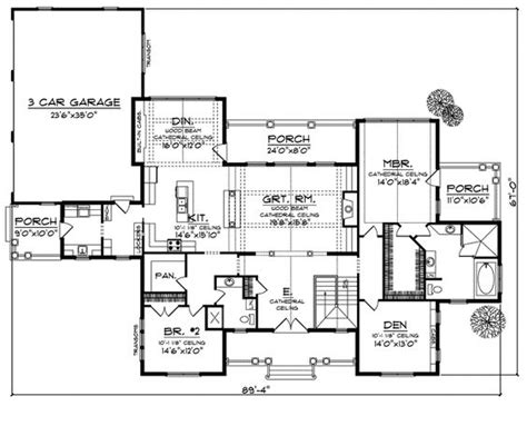 open floor plans with walkout basement house plans craftsman and vaulted ceilings on pinterest