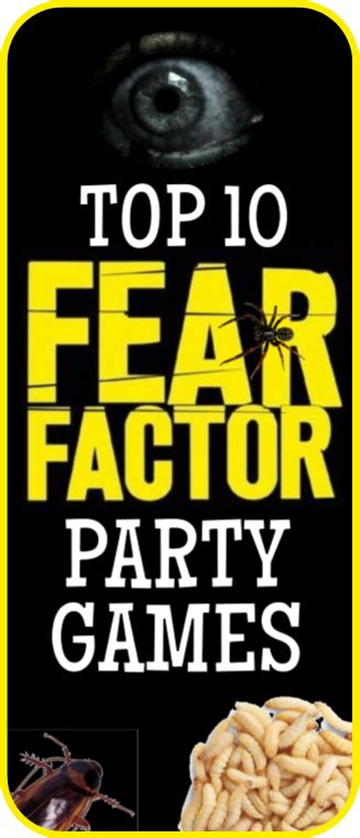 top 10 themes of games top 10 fear factor birthday party games