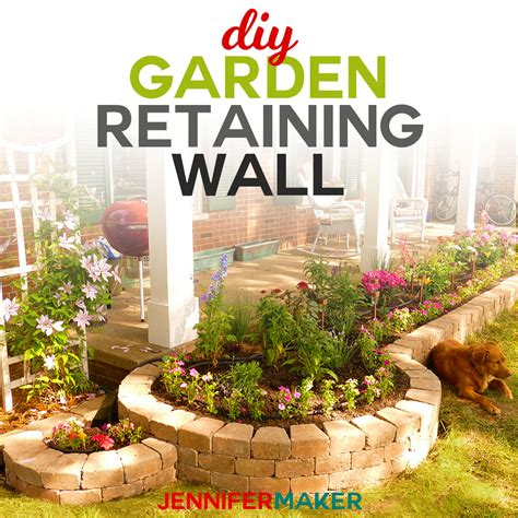 diy retaining wall construction for a beautiful garden