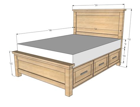 Dimensions Of A Queen Bed Queen Size Bed Amp King Size Bed Size Bed Length
