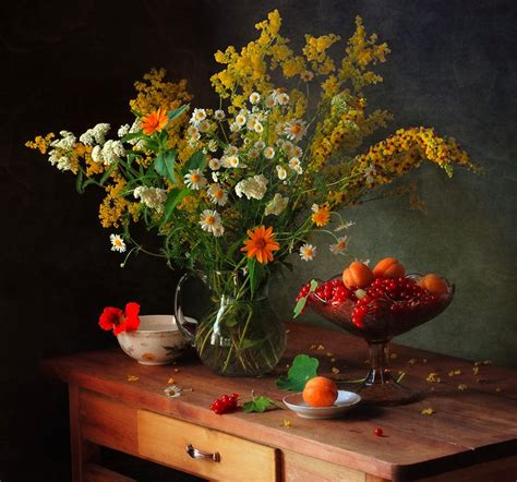 flowers and fruit with flowers and fruit