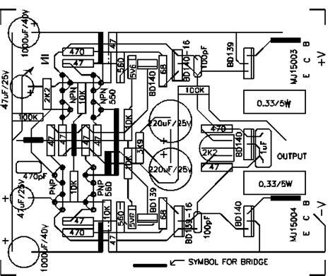 layout pcb lifier 50w pcb layout